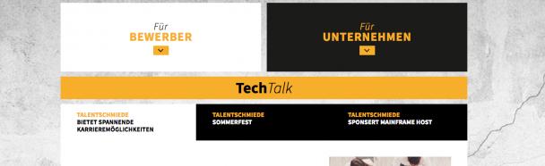 Neue Talentschmiede Webseite online