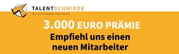 3.000 Euro Prämie für Mitarbeiterempfehlung